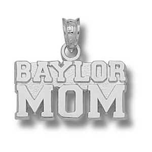 Sterling Silver 3/8in Baylor Mom Pendant