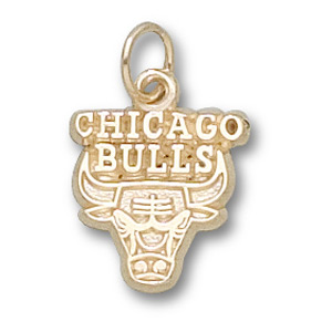 14kt Yellow Gold 3/8in Chicago Bulls Logo Pendant