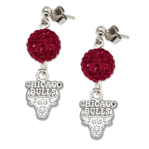 Sterling Silver Chicago Bulls Ovation Earrings