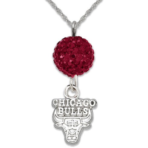 Sterling Silver Chicago Bulls Ovation Necklace