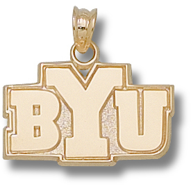 10kt Yellow Gold 1/2in BYU Pendant