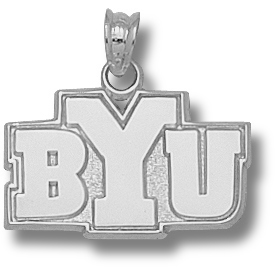 Sterling Silver 1/2in BYU Pendant