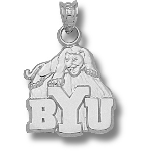 Sterling Silver 5/8in BYU Cougar Pendant