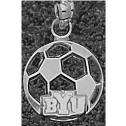 Sterling Silver 1/2in BYU Soccer Pendant