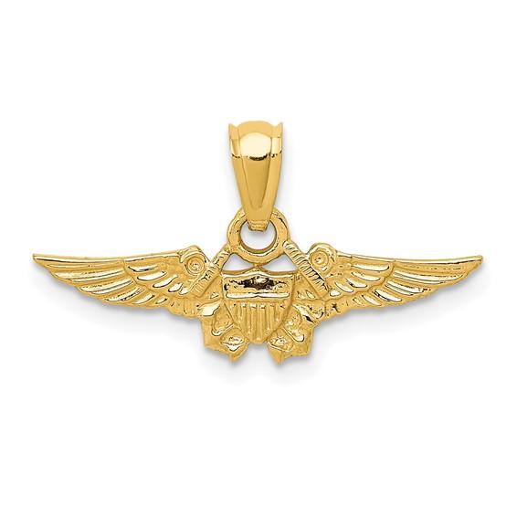 14kt Yellow Gold U.S. Naval Flight Officer Pendant