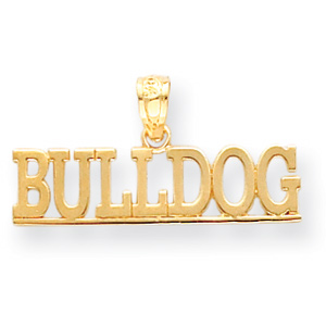 14kt Yellow Gold 1/4in USMC Bulldog Pendant