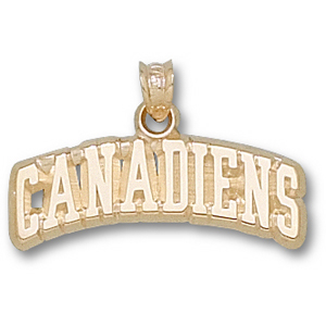 Montreal Canadiens 3/8in Pendant - 14k
