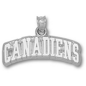 Montreal Canadiens 3/8in Pendant - Sterling Silver