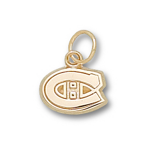 Montreal Canadiens 5/16in C Charm - 14k Gold