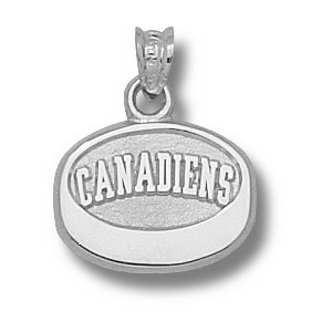 Sterling Silver 7/16in Montreal Canadiens Puck Pendant