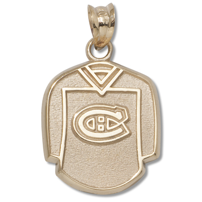 14kt Yellow Gold 5/8in Montreal Canadiens Jersey Pendant