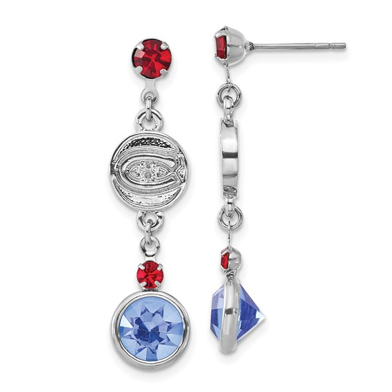 Montreal Canadiens Crystal Logo Earrings