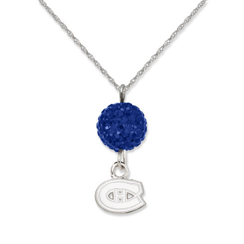 Sterling Silver Montreal Canadiens Crystal Ovation Necklace