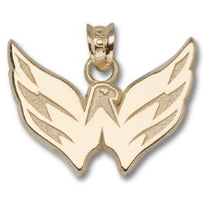 10kt Yellow Gold 5/8in Washington Capitals Eagle Pendant
