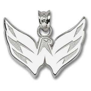 Sterling Silver 5/8in Washington Capitals Eagle Pendant