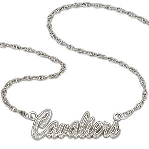 Sterling Silver Cleveland Cavaliers Script 18in Necklace