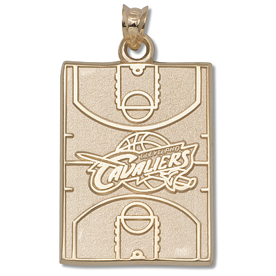 14kt Yellow Gold 15/16in Cleveland Cavaliers Court Pendant