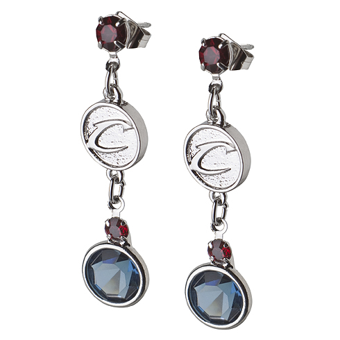 Cleveland Cavaliers Crystal Logo Earrings