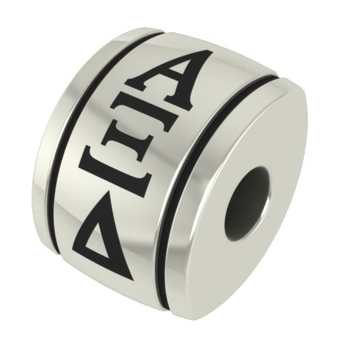 Sterling Silver Alpha Xi Delta Barrel Bead