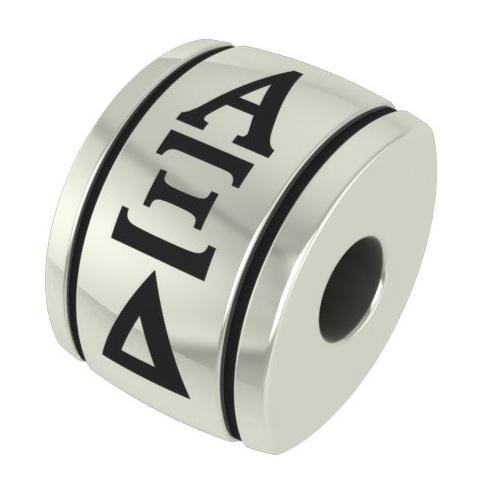 Sterling Silver Alpha Xi Delta Barrel Bead