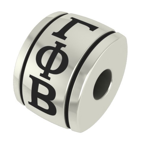 Sterling Silver Gamma Phi Beta Barrel Bead
