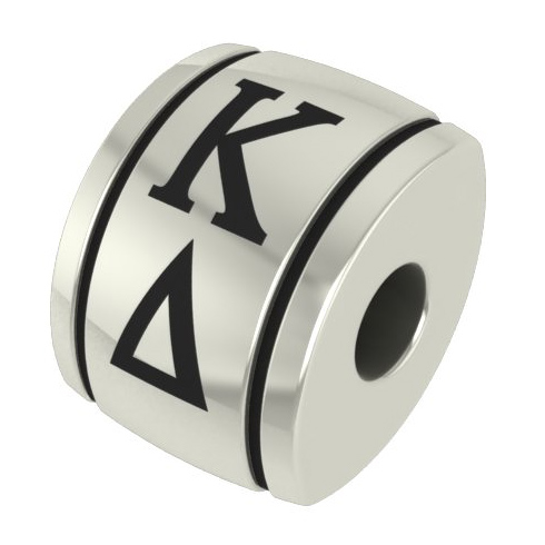 Sterling Silver Kappa Delta Barrel Bead