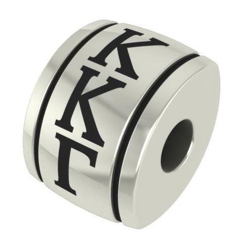 Sterling Silver Kappa Kappa Gamma Barrel Bead