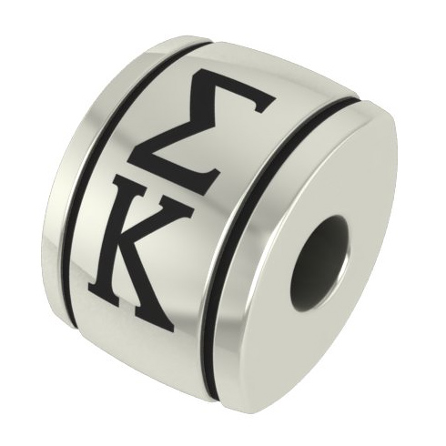 Sterling Silver Sigma Kappa Barrel Bead