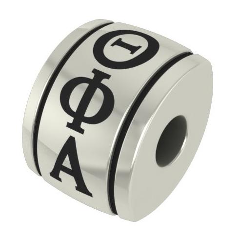 Sterling Silver Theta Phi Alpha Barrel Bead