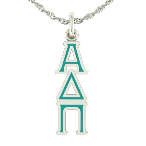 Sterling Silver Alpha Delta Pi Lavaliere Necklace