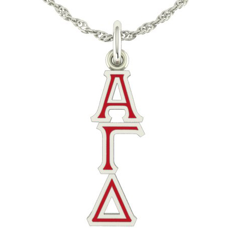 Sterling Silver Alpha Gamma Delta Lavaliere Necklace