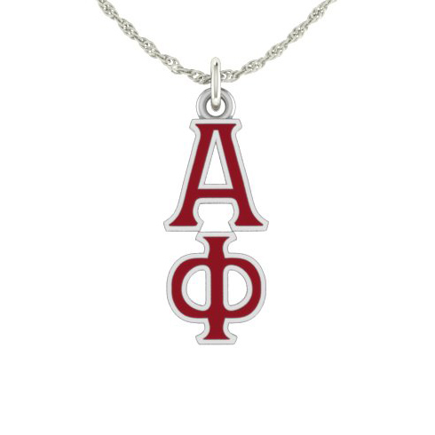 Sterling Silver Alpha Phi Lavaliere Necklace