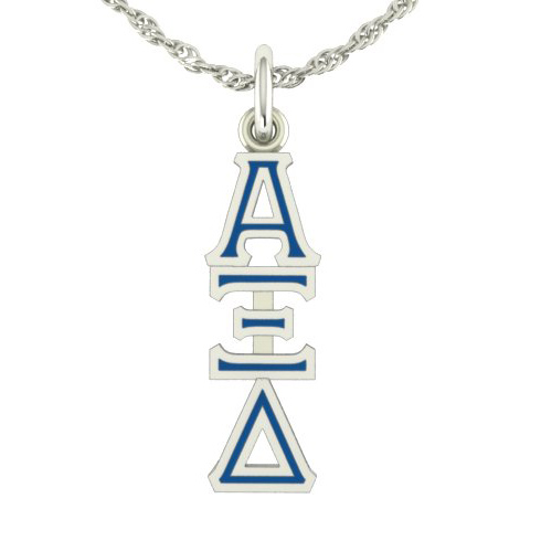 Sterling Silver Alpha Xi Delta Lavaliere Necklace