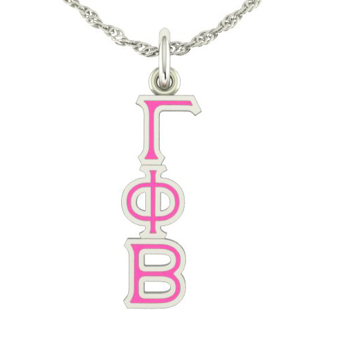 Sterling Silver Gamma Phi Beta Lavaliere Necklace