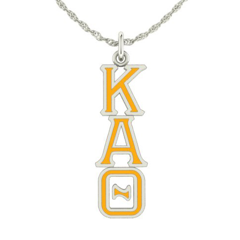 Sterling Silver Kappa Alpha Theta Lavaliere Necklace