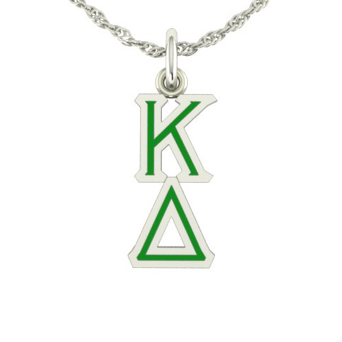 Sterling Silver Kappa Delta Lavaliere Necklace