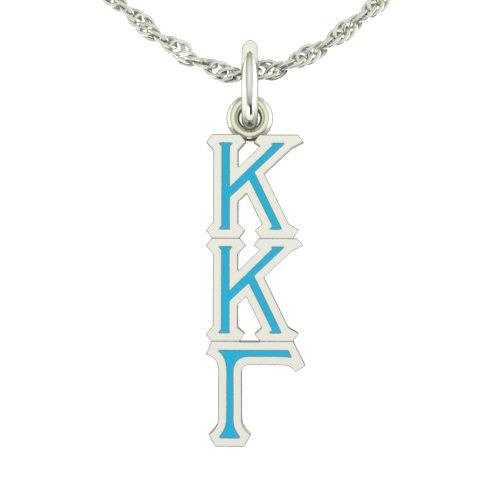 Sterling Silver Kappa Kappa Gamma Lavaliere Necklace