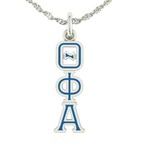 Sterling Silver Theta Phi Alpha Lavaliere Necklace