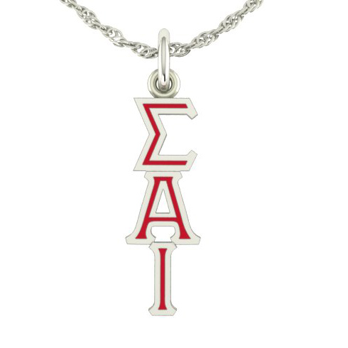 Sterling Silver Sigma Alpha Iota Lavaliere Necklace