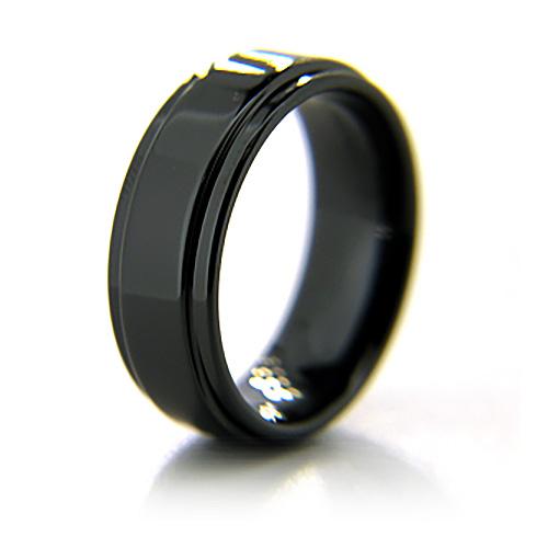 8mm Flat Black Ceramic Step Down Edge Ring