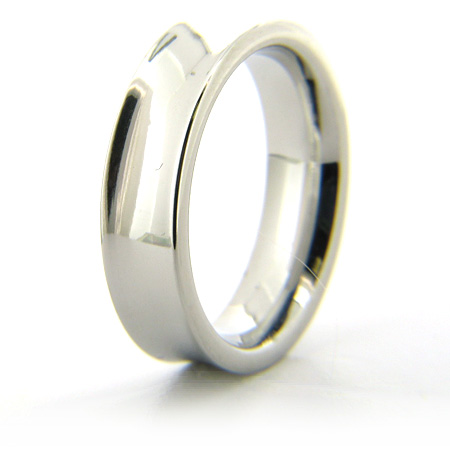 Cobalt Chrome 6mm Concave Polished Ring