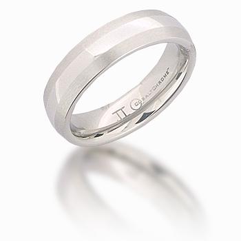 Cobalt Chrome 6mm Domed Satin Edges Ring