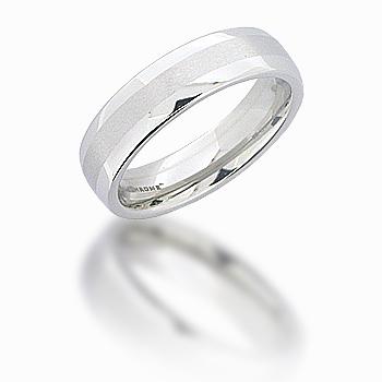 Cobalt Chrome 6mm Domed Satin Center Ring
