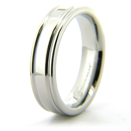 Cobalt Chrome 6mm Ring with Rounded Flat Edges