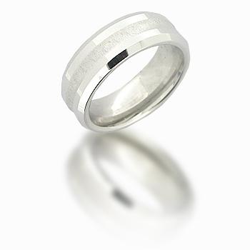 Cobalt Chrome 8mm Beveled Deep Groove Ring