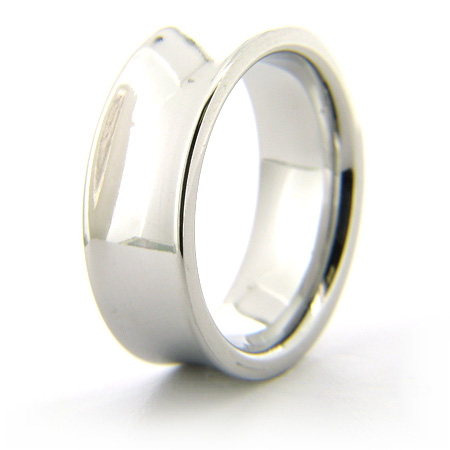 Cobalt Chrome 8mm Concave Polished Ring