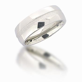 Cobalt Chrome 8mm Domed Deep Groove Ring