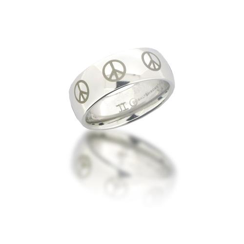 Cobalt Chrome 8mm Domed Peace Ring