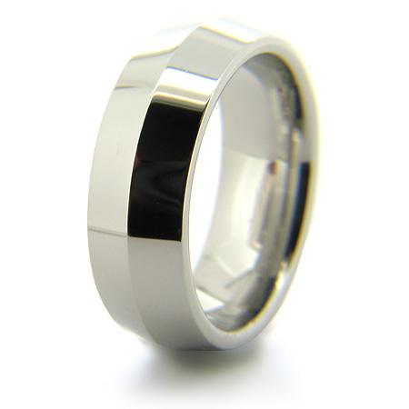 Cobalt Chrome 8mm Ring with Knife Edge Center