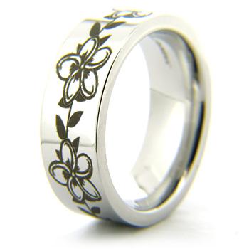 Cobalt Chrome 8mm Flower Ring